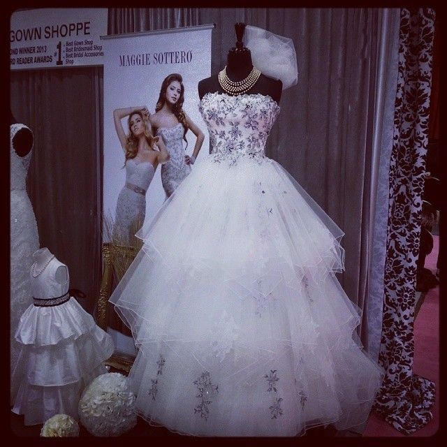 Dress done by #MaggieSottero #WeddingGowns #CanadasBridalShow #WeddingShow #WeddingPlanning #WeddingDress