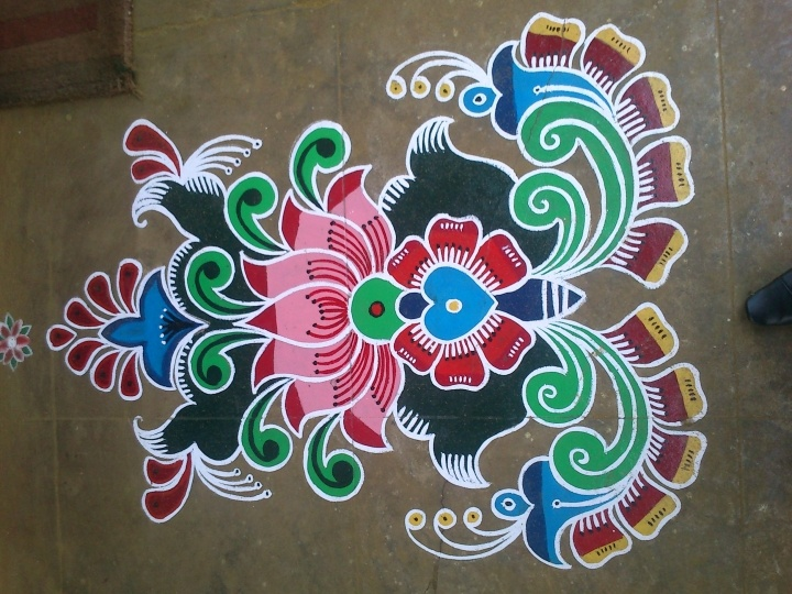 Entry by Devi John(1) #Diwali #Rangoli