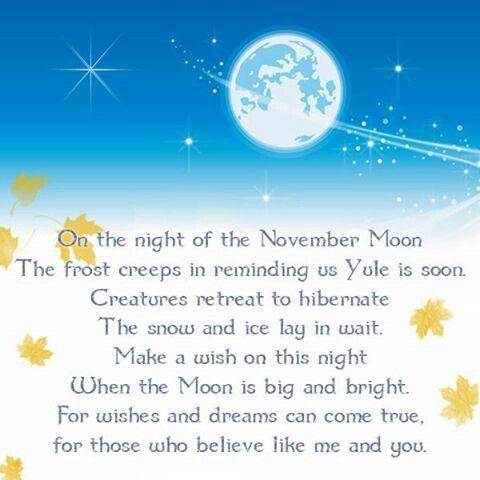 November full moon poem