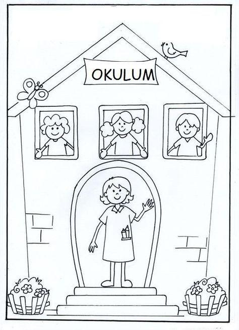 Basilabilir Okulun Ilk Gunu Boyama En Iyi Boyama Cocuk Kitabi