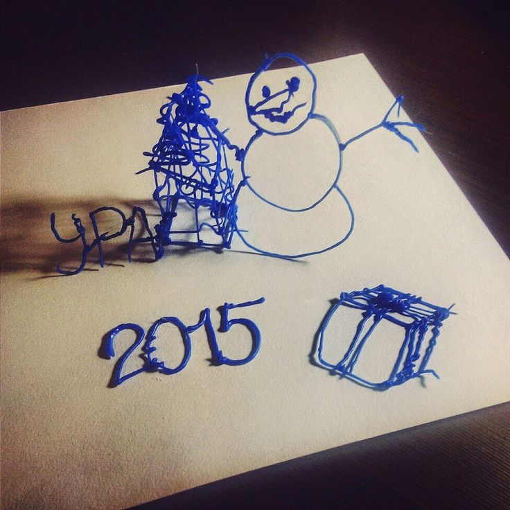 3d, 3д, art, artist, blue, draw, fashion, myriwell, pen, snowman, christmas, new year