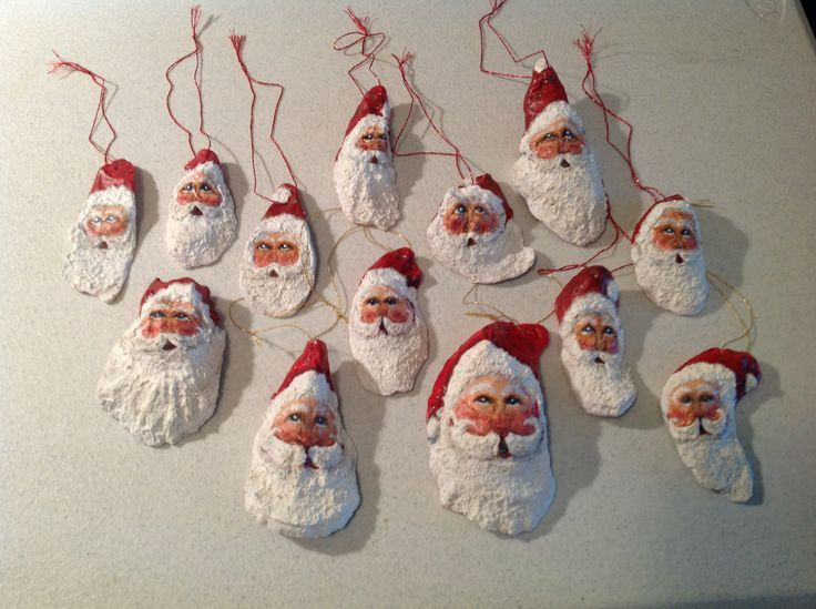 oyster shell crafts | Oyster shell santa's