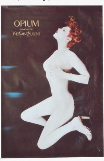 YSL Opium Perfume Advertisement with Sophie Dahl, period: ?