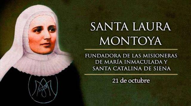 SANTORAL CATOLICO: SANTA LAURA MONTOYA O LAURA DE SANTA CATALINA DE S...