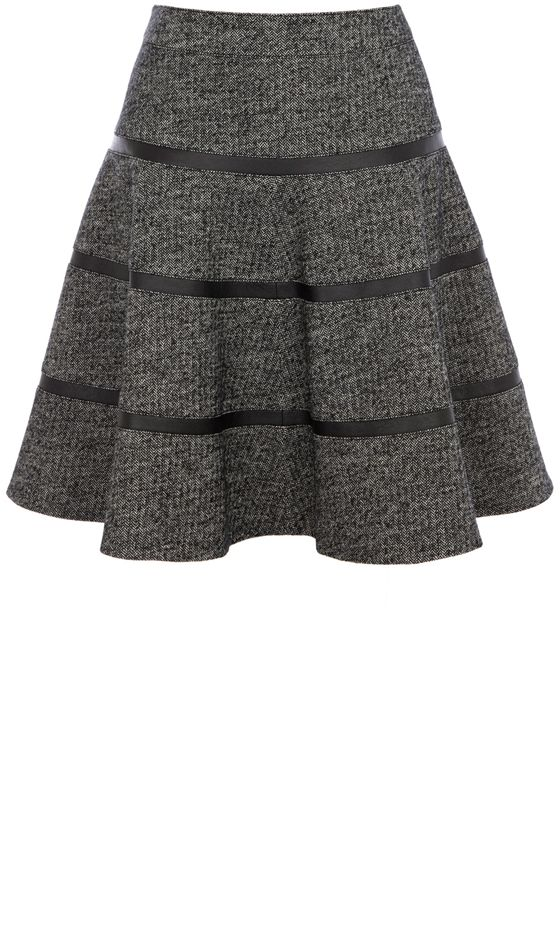Karen Millen Grey Wool Skirt, £125
