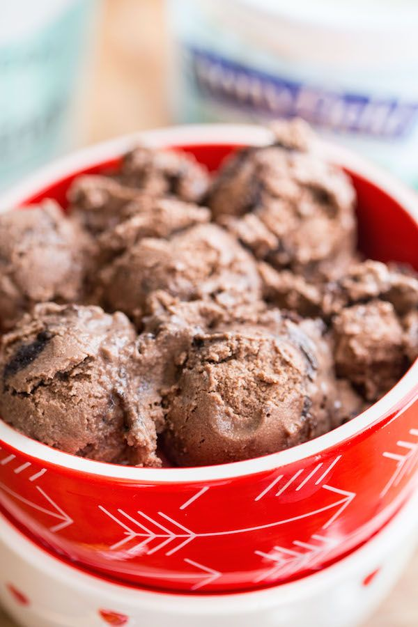 Brownie Chunk Chocolate Frozen Yogurt