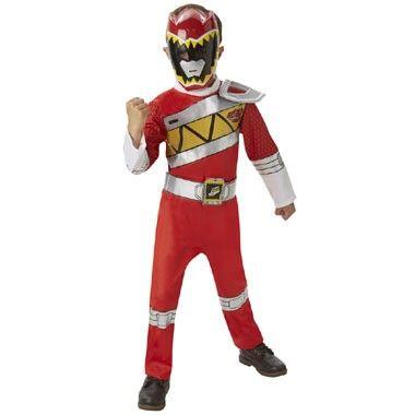 Power Rangers Dino Charge deluxe kostuum - rood - maat 128/140  Ga verkleed als een van de Power Rangers in dit rode pak. Dit overall wordt geleverd met het bijpassende masker.  EUR 29.99  Meer informatie