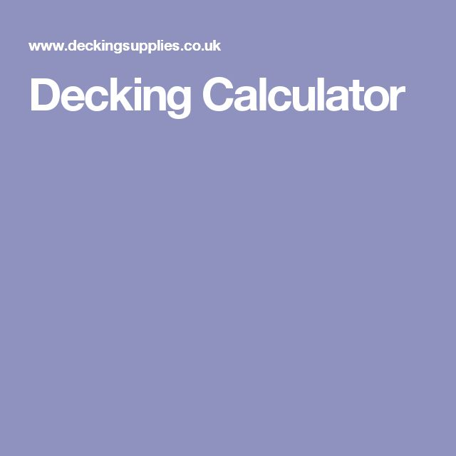 Decking Calculator
