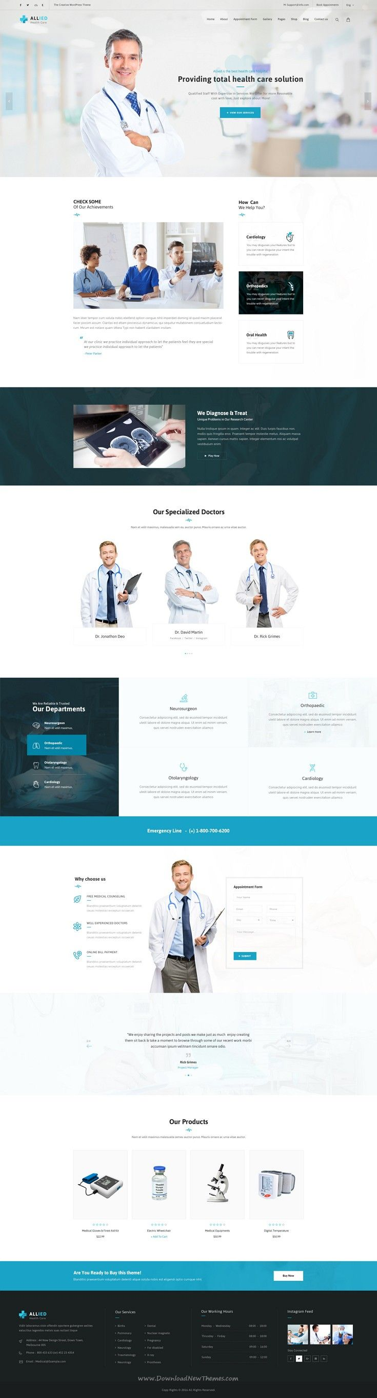 Allied Health Care is beautiful Medical #website #PSD #Template. Download Now!