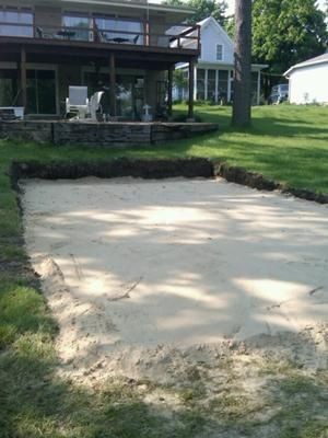 level out the slope in my yard he dug a hole 29 on the near side and