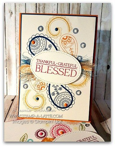 Blessed Denim Paisleys ... a fun card for anyone - even the guys .. click through to my blog for how to make these threads used!
