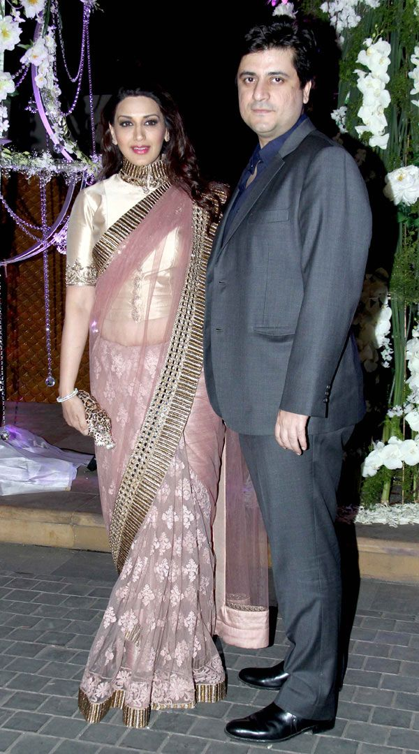Goldie Behl and Sonali Bendre at Manish Malhotra's niece Riddhi's sangeet. #Bollywood #Fashion #Style #Beauty
