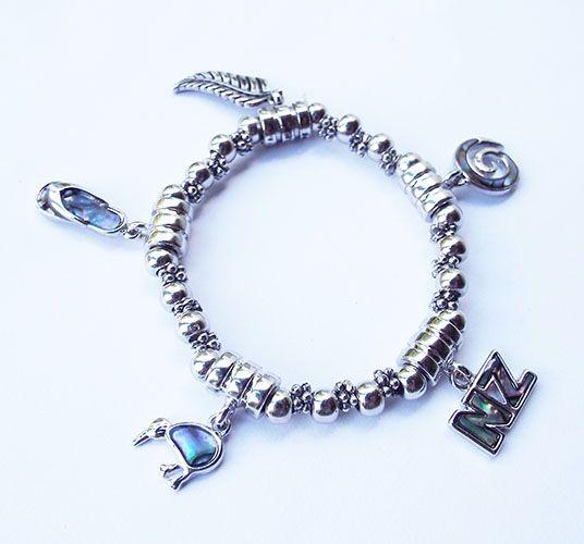 NZ+Paua+Shell+Charm+Bracelet  http://www.shopnz.com/nz-paua-shell-charm-bracelet-xidp1409371.html
