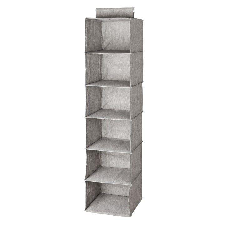 Wardrobe storage 6 shelves Grey  | Granit.com