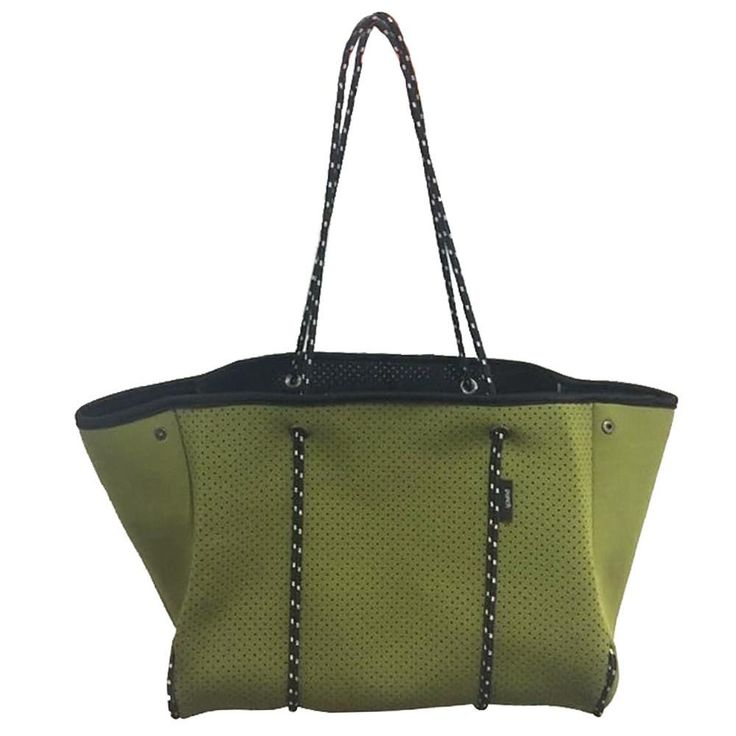Punch | Neoprene Tote Bag in Khaki Green