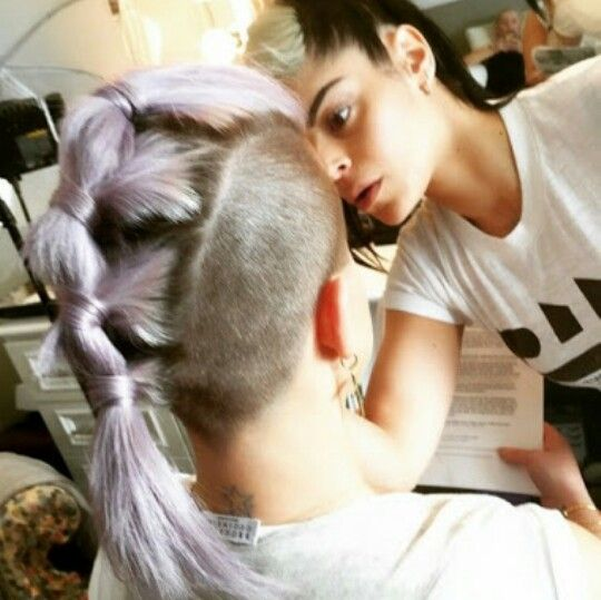 Try to grow my Mohawk long to do this..... cant wait