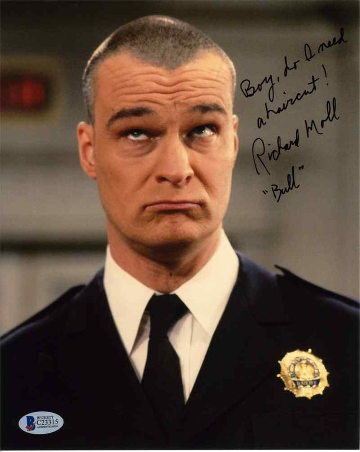 Richard Moll Nigh Court Signed 8x10 Photo Certified Authentic Beckett BAS COA