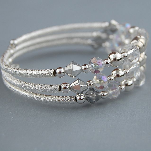 memory wire bracelets | Silver and Crystal Memory Wire Bracelet | Flickr - Photo Sharing!
