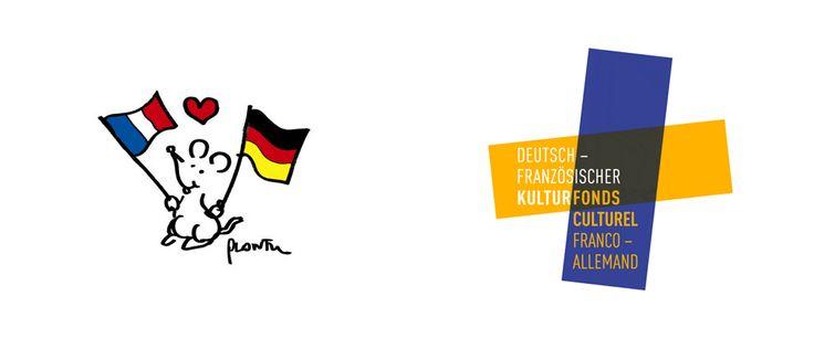 Bilingual logo before and after: Fonds Culturel Franco-Allemand / Deutsch - Französischer Kulturfonds