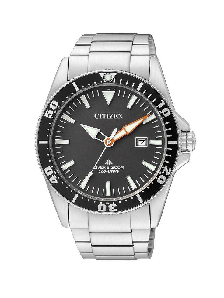 Citizen Promaster Sea Eco-Drive Diver BN0100-51E – Reloj analógico de cuarzo para hombre, correa de acero inoxidable color plateado from amazon.es
