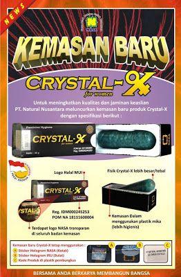 CRYSTAL X CENTRE: Ciri-Ciri Crystal-X Asli Terbaru