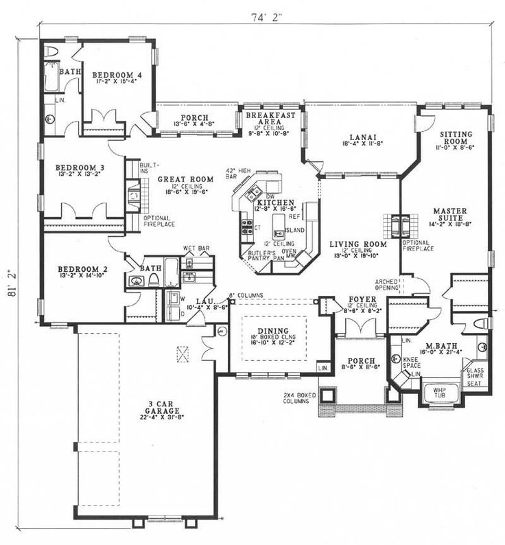 The Evandale House Plan House Ideas Pinterest House