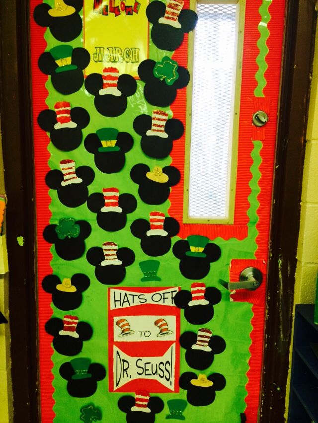 Classroom Decorations For March ~ My classroom door ready for march dr seuss pinterest
