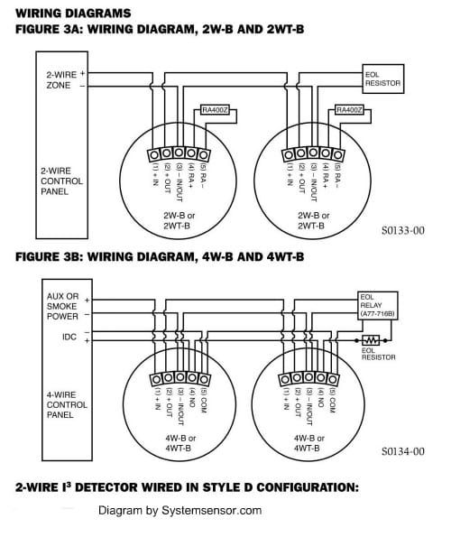 2 wire smoke detector wiring today diagram database Wiring Smoke Detectors Together