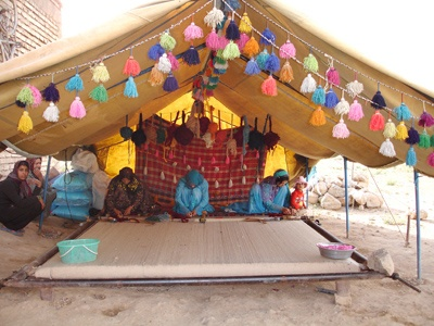 Nomadic tent-color inspiration