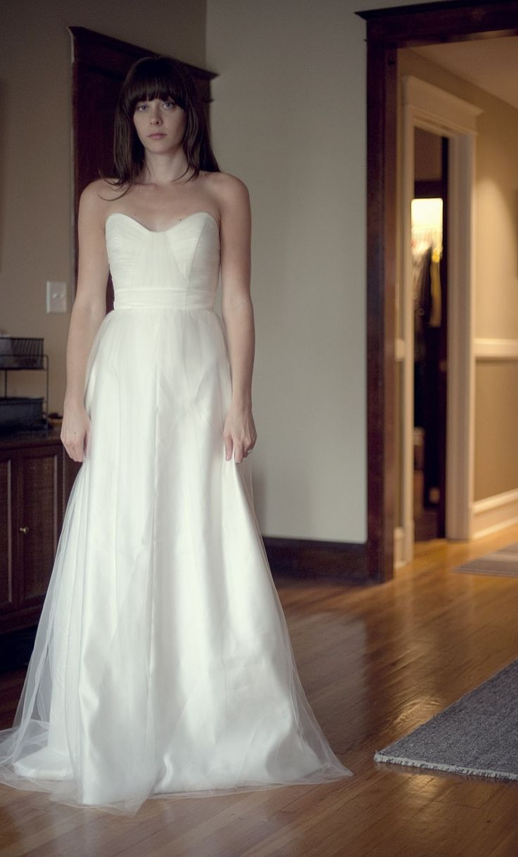 Used Tulle Wedding Dress with Sweetheart Bodice Julianna Style