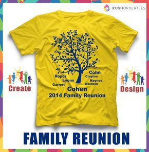 97eab8d31 Family Reunion T-Shirt Ideas! Create your custom family reunion t-shirt for  your next event. RushOrderTees.com