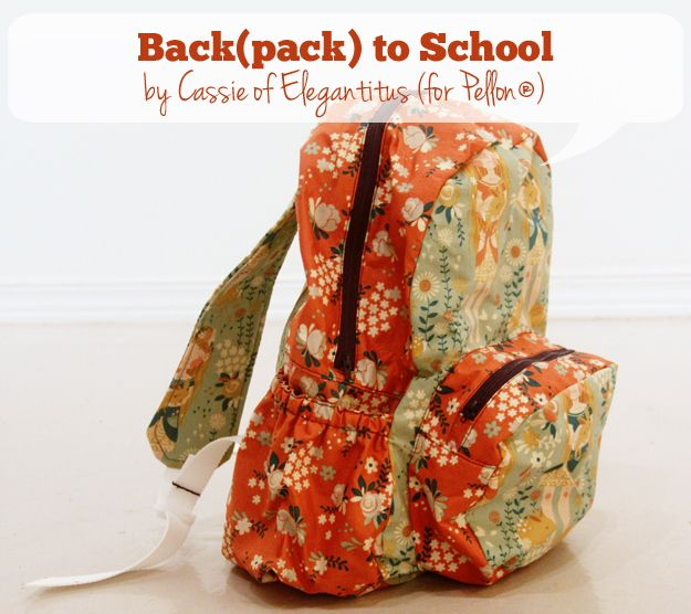 sew: Backpack Pattern and Tutorial    Pellon