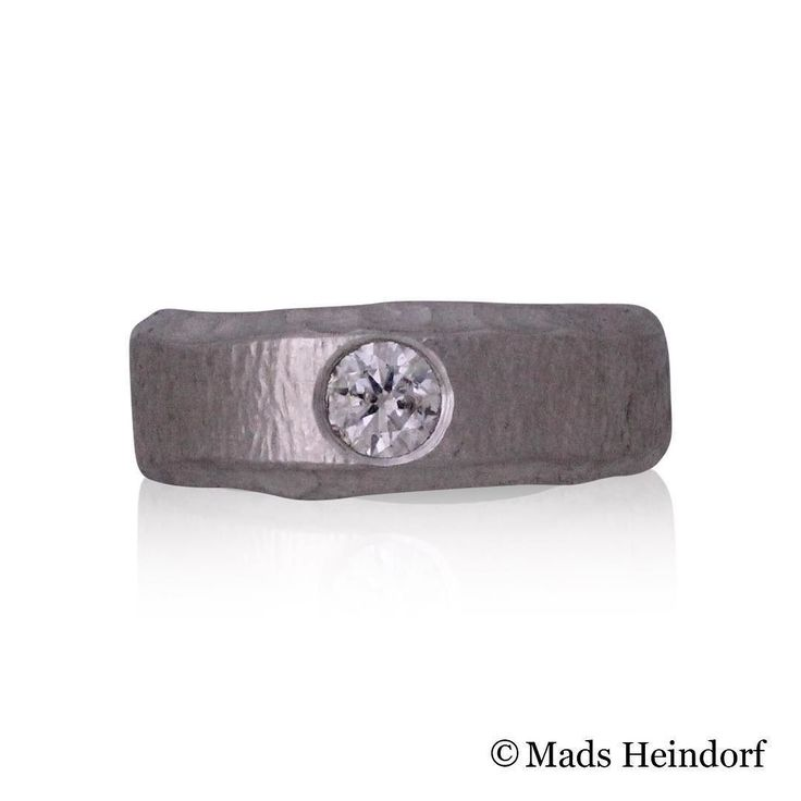 Drømmering  #handmade in #silver with a #diamond  From #MadsHeindorf