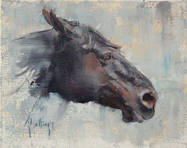 """""""Blue"""" by Abigail Gutting Oil ~ 8"""" x 10"""""""