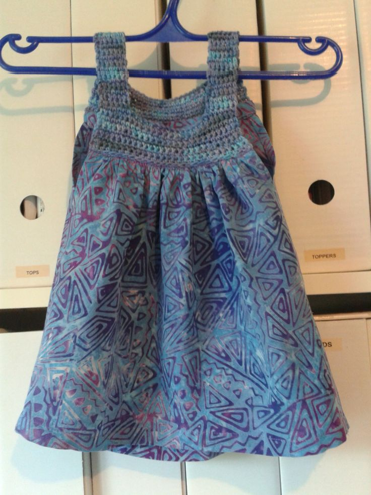 Little hippie dress. june 2014, for Charlotte, sock yarn and matching fabric