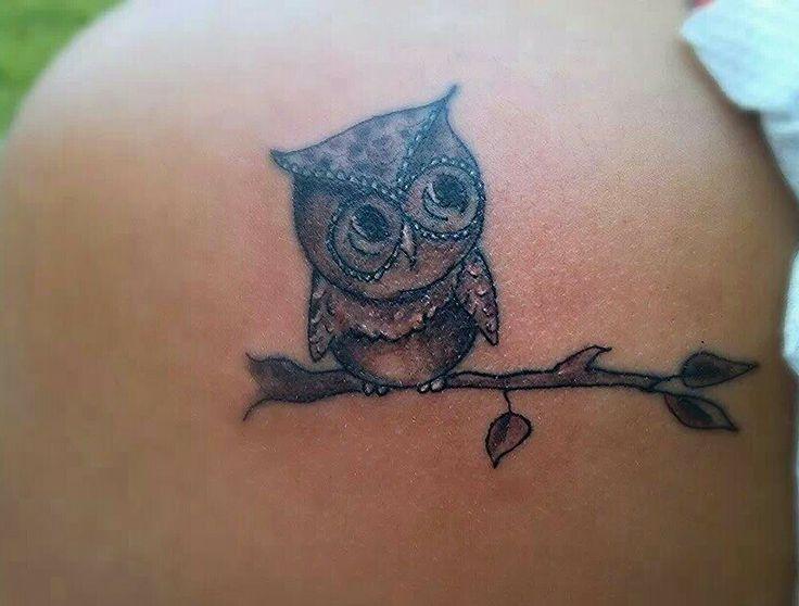Shoulder Owl Tattoo