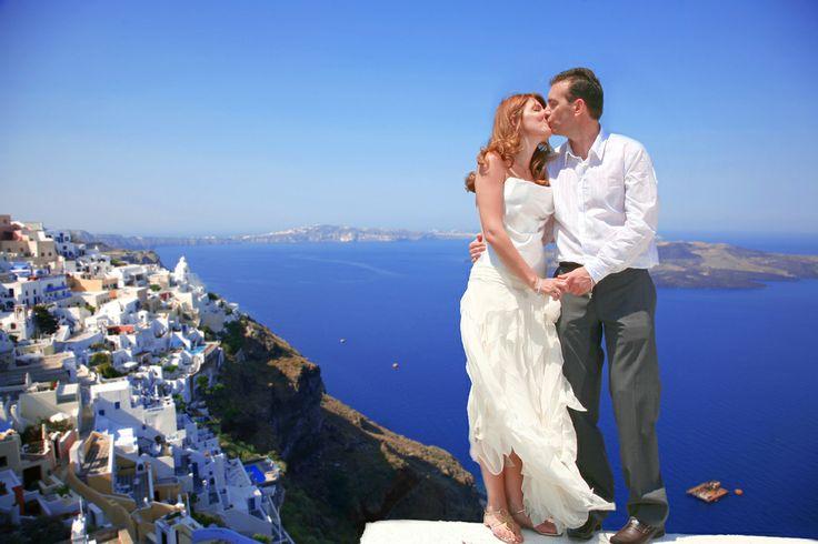 γάμος στην Σαντορίνη..