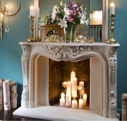 25 best ideas about candle fireplace on pinterest - Chimeneas para decorar ...