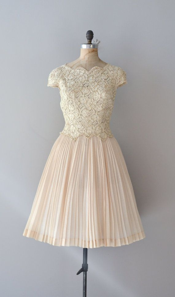 Cream lace 50s dress by DearGolden