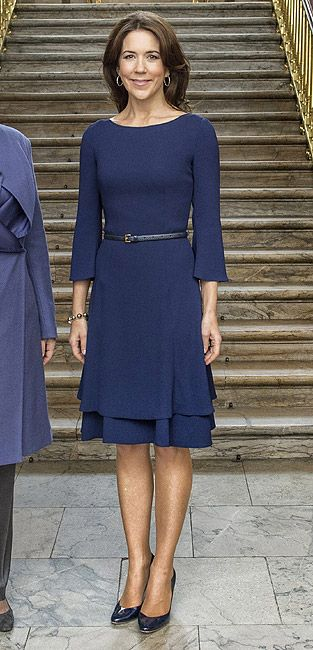 Crown princess Mary -- very simple look appropriate for nearly anything.