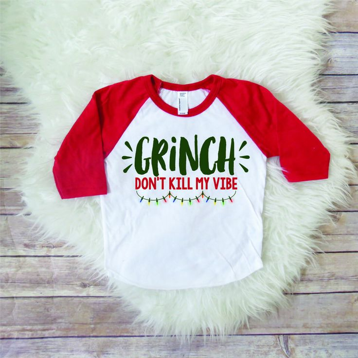 Funny toddler Christmas shirt, don't kill my vibe, kids clothing, xmas tshirt, matching Christmas shirts, funny xmas shirts, toddler raglan by JADEandPAIIGE on Etsy https://www.etsy.com/listing/568657761/funny-toddler-christmas-shirt-dont-kill