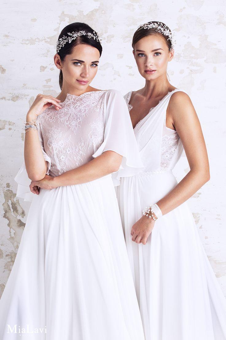 Romantic wedding dress 1716,1717, Mia Lavi 2017