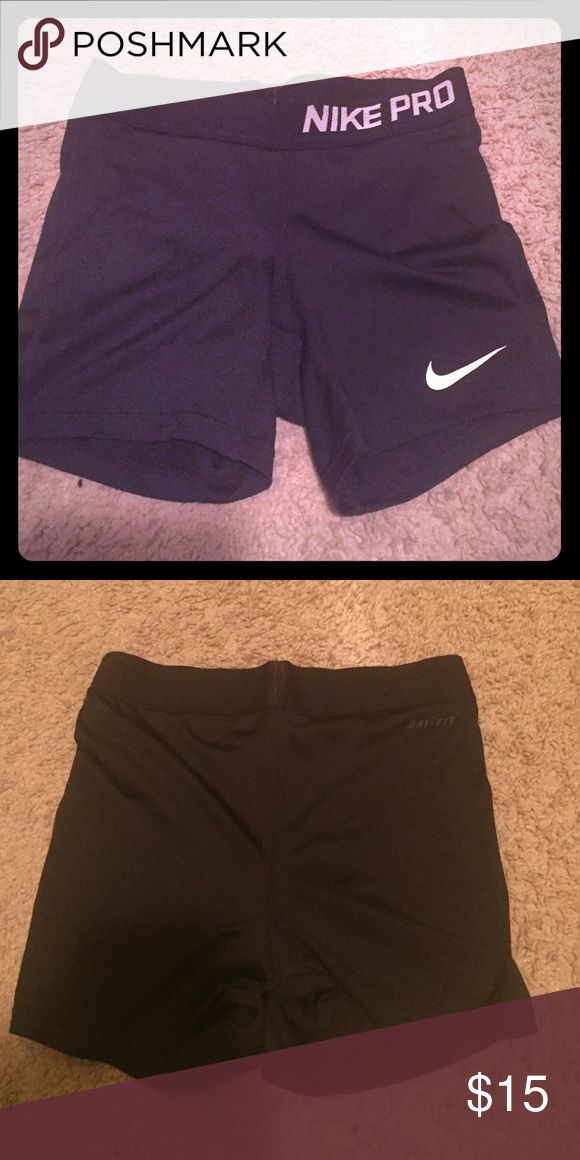 Black Nike shorts Nike shorts-Dri fit. Size Medium but runs as XS/S. Worn once but was too tight for me. Nike Shorts