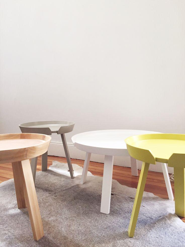 Mesas Arhus en madera laqueada o natural. #solsken #diseño #homedesign #deco www.solsken.com.ar
