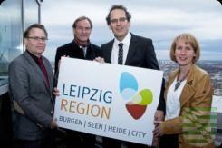 Die neue Tourismusregion LEIPZIG REGION ist die größte und übernachtungsstärkste Destination in Sachsen. Für diese hat die Leipzig Tourismus und Marketing (LTM) GmbH eine neue Dachmarke und ein neues Erscheinungsbild (Corporate Design) entwickelt, das seit Januar 2015 kommuniziert wird. Künftig werben das Sächsische Burgenland, das Sächsische Heideland, das Leipziger Neuseenland sowie die Stadt Leipzig mit einem gemeinsamen Logo.