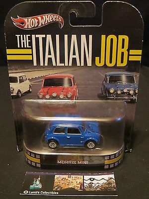 The ITALIAN JOB Blue REAL RIDERS Hot Wheels Retro Morris Mini Cooper