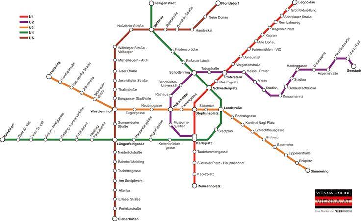 U-Bahn Plan Wien