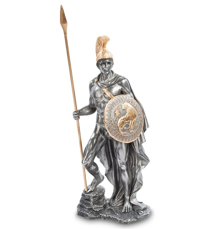 """Статуэтка """"Арес - Бог Войны"""" WS-13   Бренд: Veronese (Китай, о. Тайвань);      Страна производства: Китай;   Материал: полистоун;   Длина: 13,5 см;   Ширина: 8 см;   Высота: 35 см;   Вес: 1,2 кг;"""
