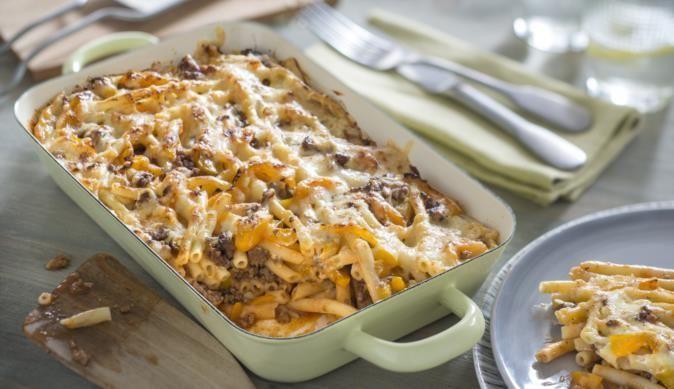 Das Rezept von MAGGI für Maccheroni-Lasagne mit Hackfleisch und Paprika ist ein echter Hingucker und schmeckt Klein und Groß.