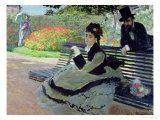 Claude Monet - Madame Monet on a Garden Bench Digitálně vytištěná reprodukce